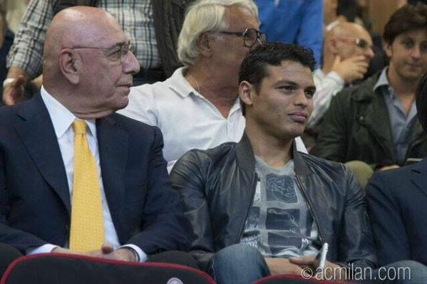 Thiago Silva had a meeting with Adriano Galliani