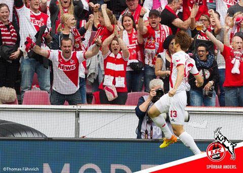 Köln - Wolfsburg osako goal