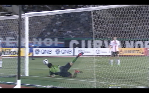 Great diving save by Kim Yong-dae