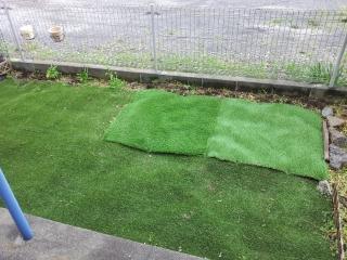 人工芝増設