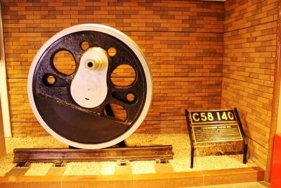 C58形蒸気機関車140号軌道輪