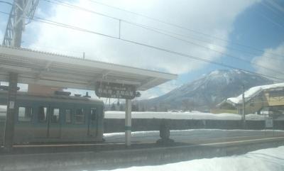 黒姫駅と黒姫山