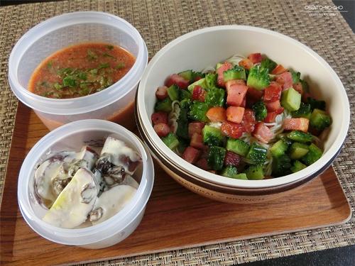 ゴーヤの野菜ジュース素麺弁当01
