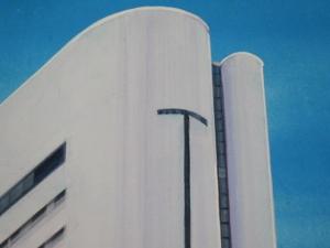 ヒルトン大阪絵具で描写