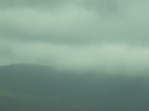 富士山雲の中2