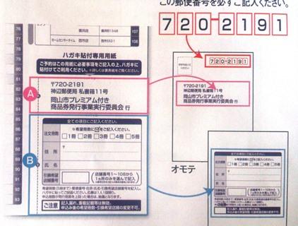 岡山 プレミアム商品券  はがき 内容 便利グッズ