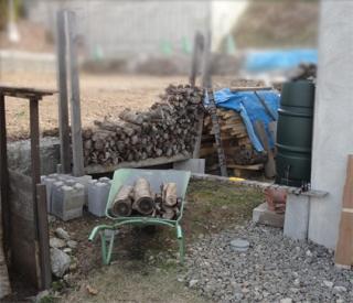 201504 薪小屋2 まずは空き地作り