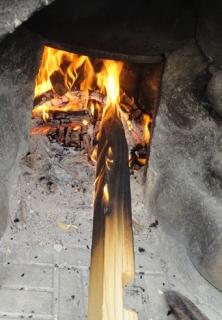 201505 杭を露天風呂炉で焼く