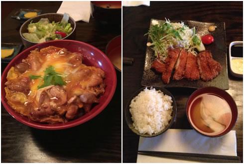 親子丼&チキンカツ
