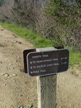 トレイルの看板