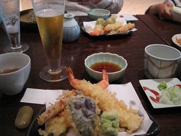 薬院「ひら川」の天ぷら蕎麦
