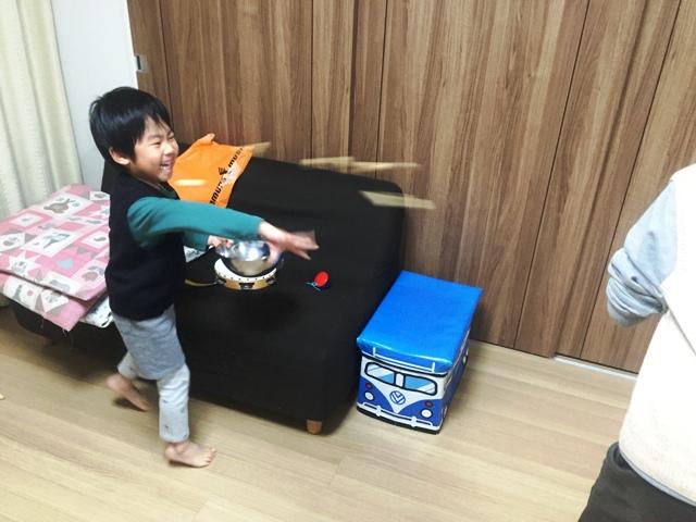 4歳の豆撒き