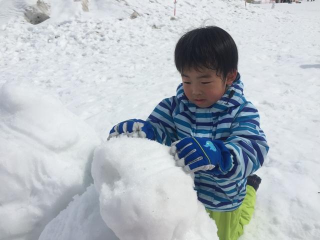 雪だるま制作