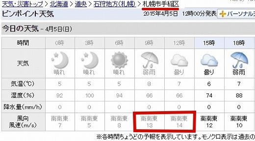 s-手稲区の風 パークワン 4月5日