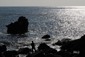 城ケ島海岸の釣り人