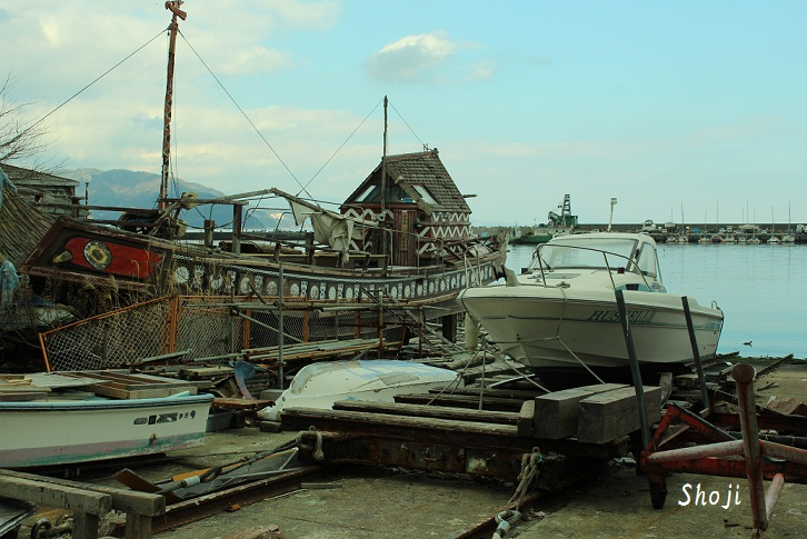 伊東港の古船