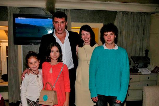 ボリス・ネムツォフ家族
