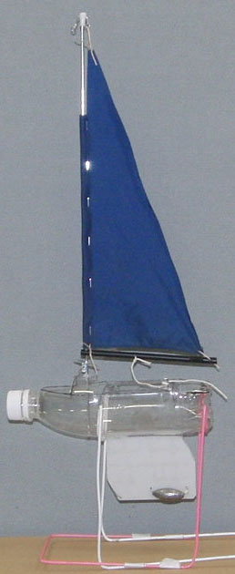 PO11 of  a slant shoulder bottle with a single sail