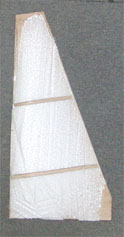 a mold for sail making of model sail boat