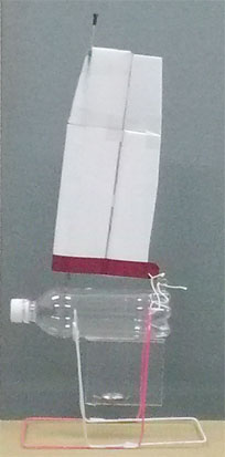 PET bottle model sailboat with a wing sail of polystyrene foam.jpg