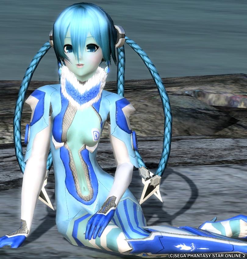 青いキリンちゃん♪