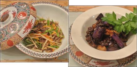 麻婆茄子&青椒肉絲