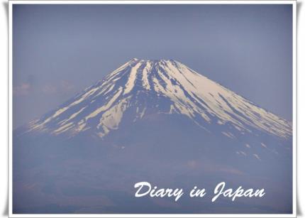 里から見た富士山