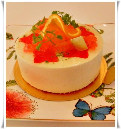 オレンジ&グレープフルーツのmousse