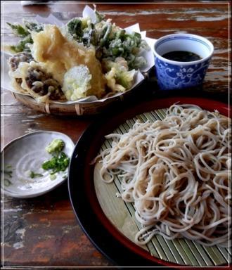 ざる蕎麦&山菜天麩羅