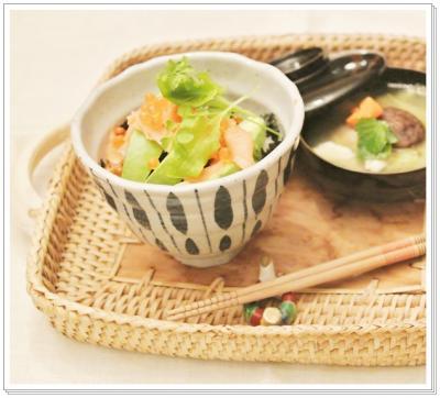 avocado&smokesalmon丼