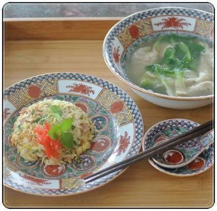 翌日はチャーハン&soup餃子