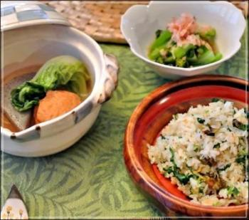 つぶ貝&いちご煮の炊き込みご飯