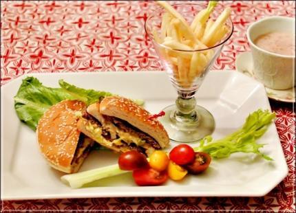 hamburgerでLunch