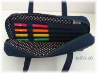 帆布製鉛筆ホルダー付レッスンバッグ風ペンケース02