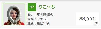 1月11日錬金熟練度ランキング