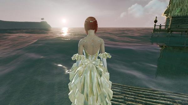 1月16日海の家からの夕日
