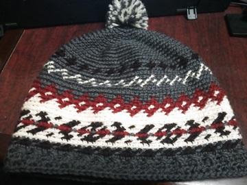 2月22日ニット帽子