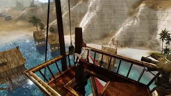 4月11日船の上で鐘を鳴らす