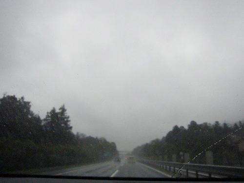 出発時は雨