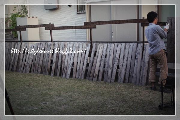 手作りフェンス