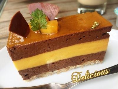 チョコマンゴーケーキ