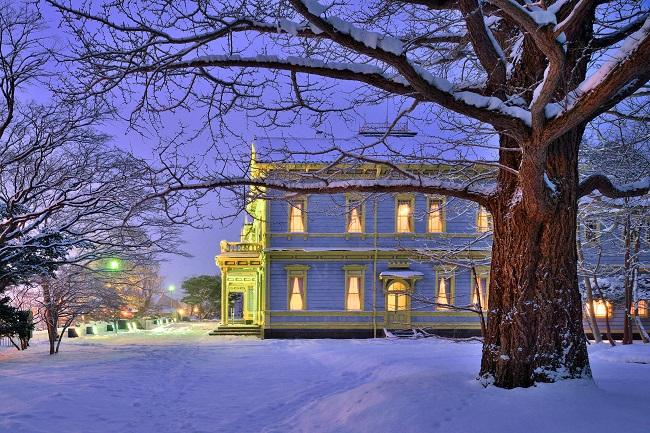 冬の旧函館区公会堂