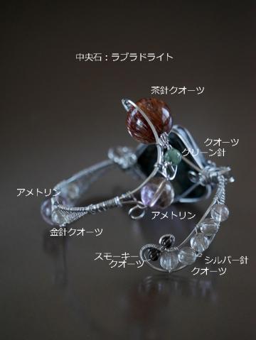 ラブラドライト 茶針水晶 (2)