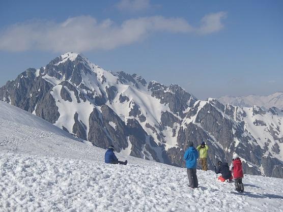 別山乗越から剣岳