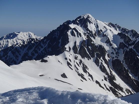 剣岳と毛勝三山方面