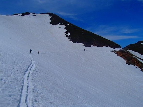 雪壁トラバース