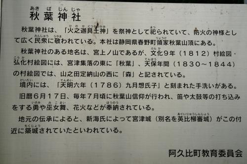 秋葉神社解説看板