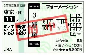 【的中馬券】0524オークス(日刊コンピ 馬券生活 的中 万馬券 三連単 札幌競馬)