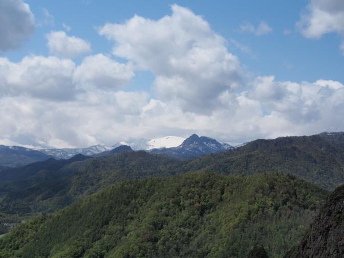 八剣山から望む無意根山?