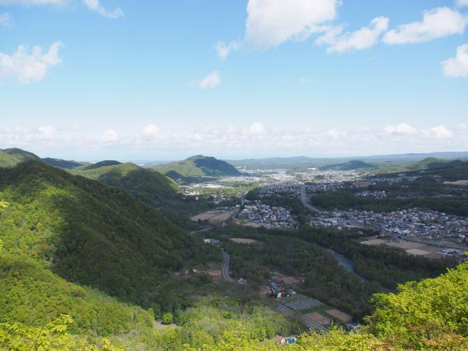 八剣山から真駒内方面